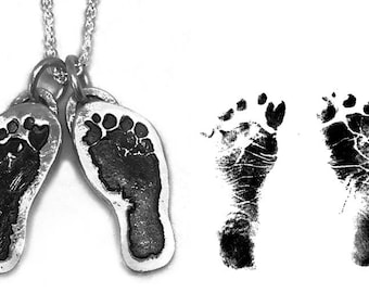 Personalized Handprint/Footprint Necklace