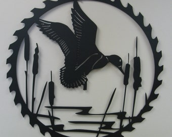 Metal Wall Art- Duck- Saw blade