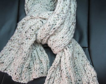 Scarf Knitted Beige