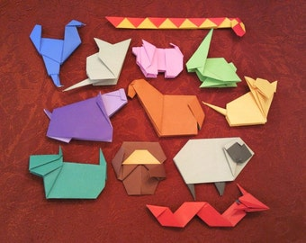Origami Animals of The Chinese Zodiac