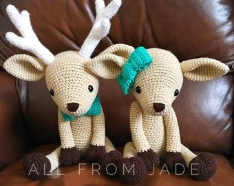 Very large stuffed amigurumi deer custom kids