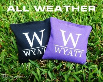 8 Custom Family Name Classic Series Cornhole Bags - All Weather