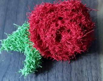 SALE. Scrub-a-dub cherry red rose bath scrubbies