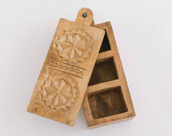 Walnut wooden box