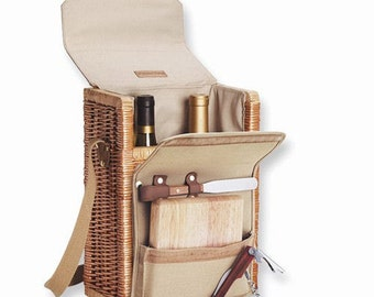 Personalized Wine Cheese Portable Picnic Set Personalized Cheese Board Corkscrew Cheese Picnics Foodie Gift Wine Lovers Insulated Wine Tote