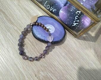 Amethyst & Copper Bracelet #004