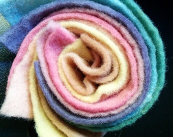 100% wool felt naturally dyed  colors