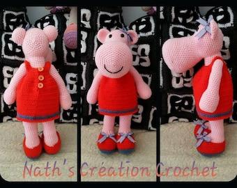 Mrs hippo askina dress orange crochet