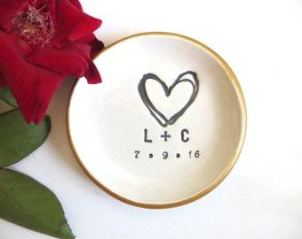 ring holder, ring dish, engagement gift, wedding gift, Gift for Couple, Bridal Shower gift, Engagement ring holder, Personalized gift