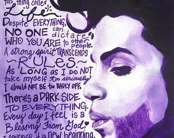 Prince, Prince Art, Prince Quotes, Purple Rain, Prince Portrait, Prince Painting, Inspirational Art, Art Prints, Motivational Art, Musician
