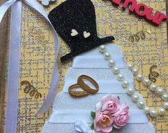 "Card congratulations wedding ""dance of the weddingcake"""