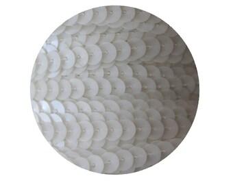 6mm Porcelain White Flat Sequin Trim