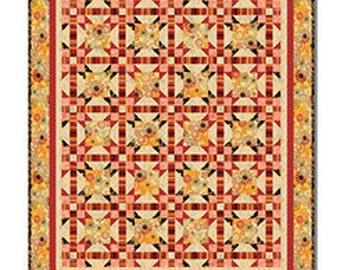 "Mozambique Quilt Kit, 65 1/2 x 77"" Finished Size, Studio 8, Quilting Treasures, Quilt Fabric, Cotton Fabric, Modern Fabric"