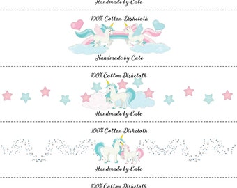 Unicorn Dishcloth/Washcloth Wraps - PDF FILE ONLY