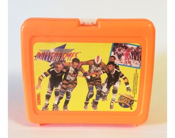Vintage 1989 Rollergames Thermos Lunchbox