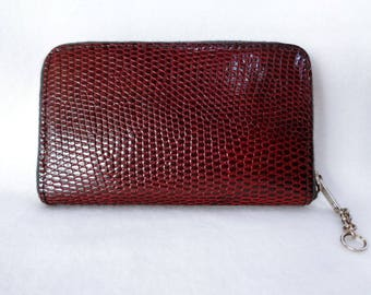 1156:Leather purse,Japanese vintage leather purse,made in Japan