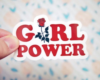 Girl Power Sticker - Grl Pwr Stickers - Women's Rights Stickers - Resist Stickers - Future is Female Sticker - Gender Equality Sticker  S110