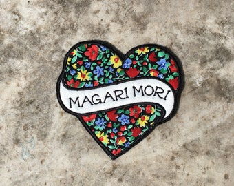 Magari Mori Floral Pattern embroidered sew on patch