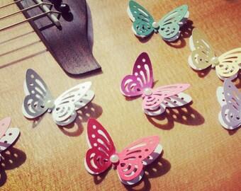 Colorful Butterflies/ 3D Paper Butterflies/ Butterflies DIE CUT/ Paper confetti/ Butterflies for scrapbooking/Party décor/Wedding décor/
