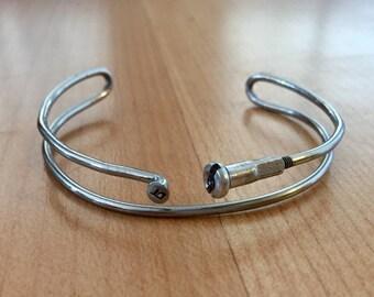Double Bike Spoke Bangle Bracelet