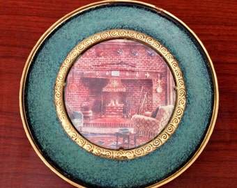 Vintage Brass Plate -Wall hanging Made in England