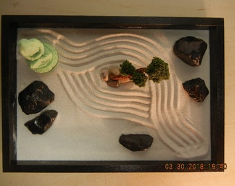Small Zen Garden with Green Buddha and Bonsai Tree-DIY Kit