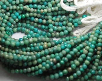 14'' Full Starnd, Super Rare Finest Quality, Chrysocolla Faceted Rondelles, Size 5-5.5mm, Wholesale Price
