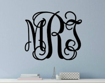 More Colors. Monogram For Wall Monogram Wall Decal ...