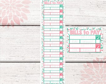Monthly Bill Tracker Stickers | Fruit Punch Color Palette | LB131 |