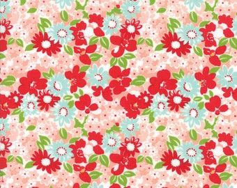 Sale! Flower Garden in coral, The Good Life by Bonnie and Camille for Moda 55155 13