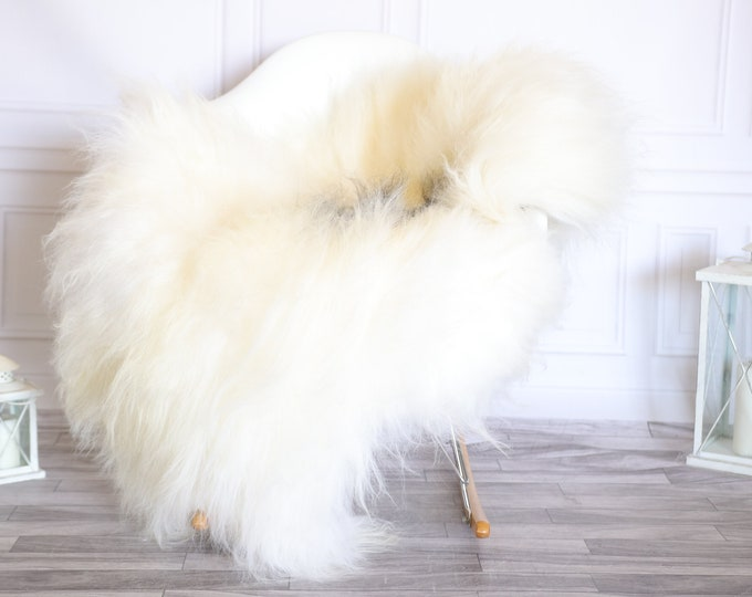 Icelandic Sheepskin | Real Sheepskin Rug |  Super Large Sheepskin Rug Beige Gray | Fur Rug | Homedecor #KOWISL28