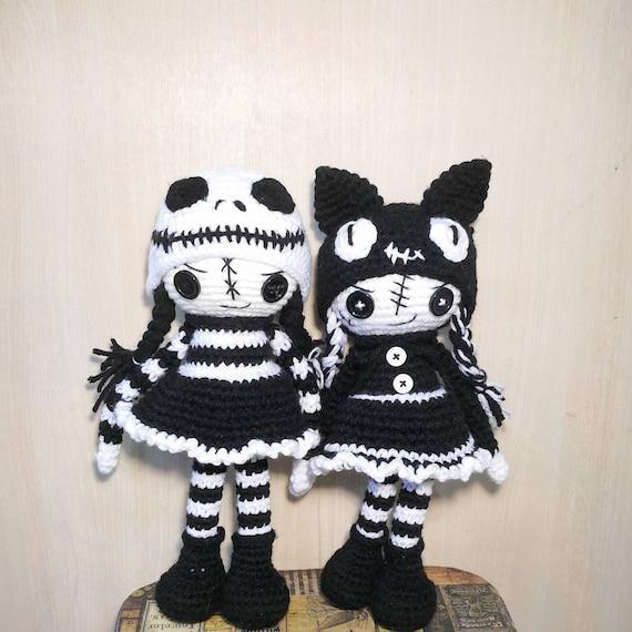 2-in-1 CROCHET PATTERN Halloween dolls, Creepy cute amigurumi voodoo ...
