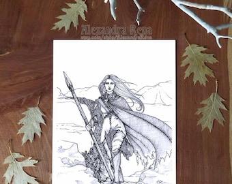 Through the Helcaraxë  -  Silmarillion - 8x10 Print