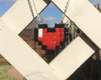 8-Bit Heart Necklace