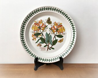 Vintage Portmeirion Botanic Garden Dinner Plate Honeysuckle Periclymenum Lonicera Orange