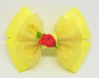 Belle Bow | Belle Hair Bow | Beauty And The Beast Inspired | Disney Inspired Hair Bow