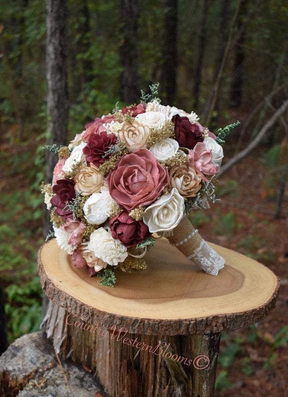 Wedding bouquet burgundy bouquet burgundy dusty pink bouquet mightylinksfo