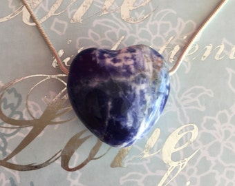 SODALITE Pendant Heart Jewelry Necklace