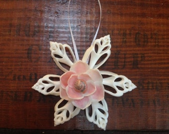 Pink Cut Shell Ornament