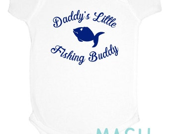Baby gift under 20 etsy daddys little fishing buddy one piece baby shower gift fish new baby negle Image collections