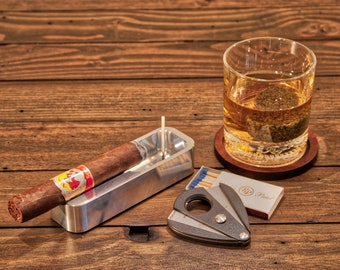 Single Cigar Ashtray , Solo Ashtray, groomsman gift, Gift for him