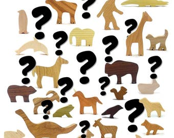 Wood Toy Blind Box Mystery Animal, Wooden Animal Toys, Natural Wood Toys