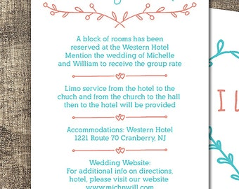 Wedding Details Card Template, Rustic Wedding Details Card, Editable Text, Printable File, Instant Download, PDF Template #PF014