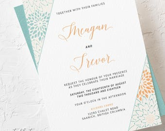 Modern Hip - Wedding Invitations (Style 13784)