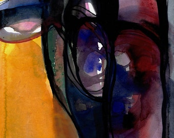 """Abstract Painting, Watercolor Art, """"Watercolor Abstraction 124"""" Original abstract watercolor painting by Kathy Morton Stanion EBSQ"""
