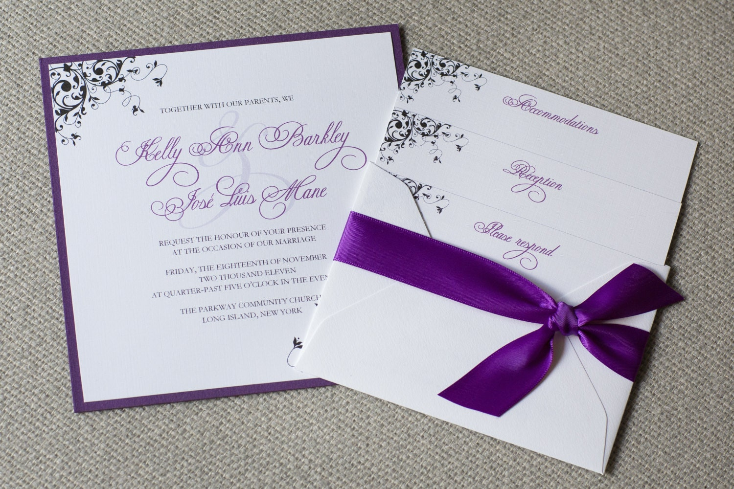 Amazing Simple Purple Wedding Invitations Model - Invitation Card ...