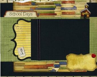 School Days - 12x12 Premade Scrapbook Page