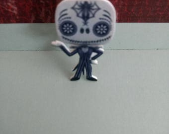 Cartoon Characters Movie Day of the Dead Jack Lapel Push Pin-1