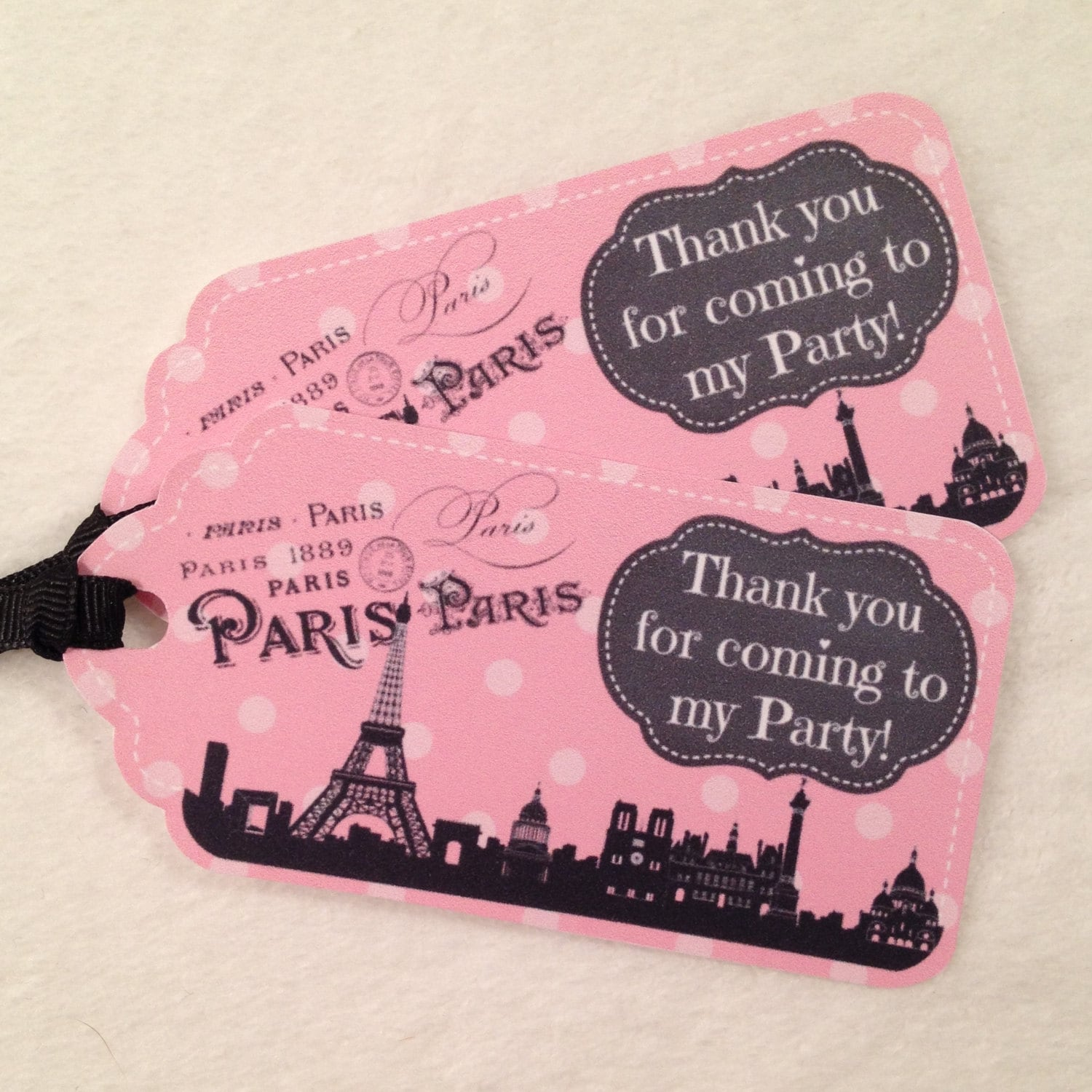 10 Meet me in Paris Party Favor Gift Tags Birthday Party