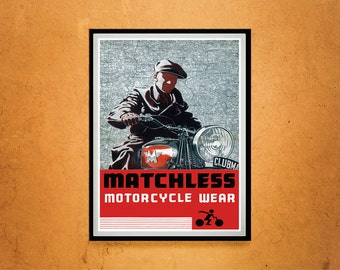 Reprint of a Vintage Matchless Motorcycle Makers Poster